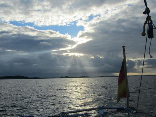 mit dem Boot unterwegs