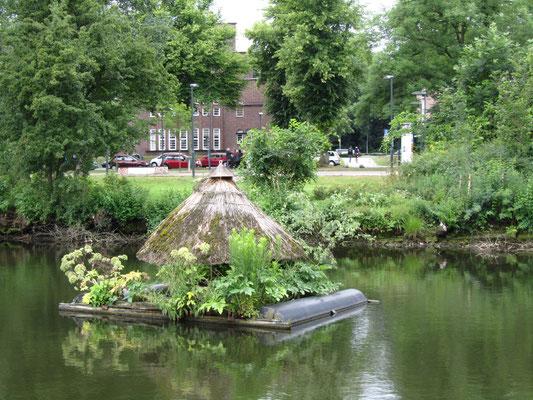 auf dem Wasser in Lübeck