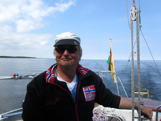Stephan Havemann auf dem Boot