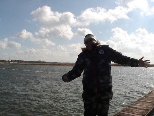 Stephan Havemann am Hafen Zingst