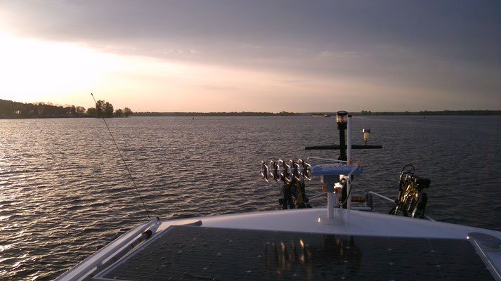 Auf dem Plauer See in Brandenburg