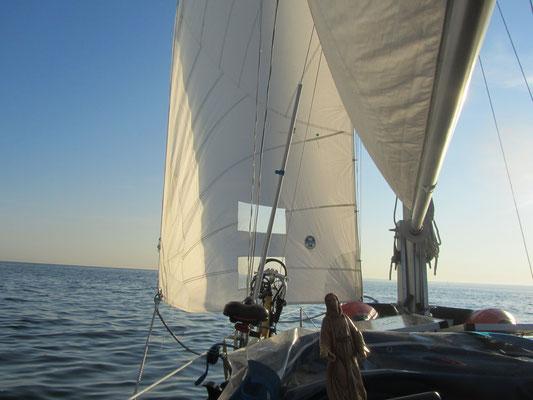 mit dem Segelboot auf der Ostsee