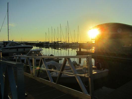 Sonnenuntergang Hafen Wiek Rügen