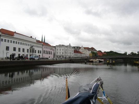 Auf der Trave in Lübeck