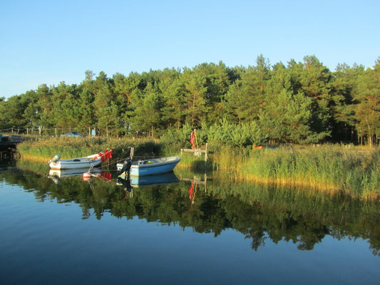 Darßer Hafen an der Ostsee