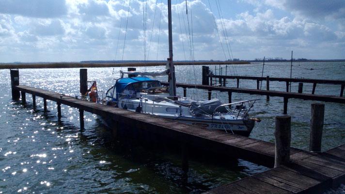 Unser Segelboot Jonathan in Zingst