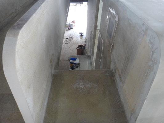 Blick von der Dachterrasse in den Wohnbereich