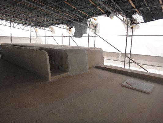 Dachterrasse mit Sicht auf den Treppenaufgang