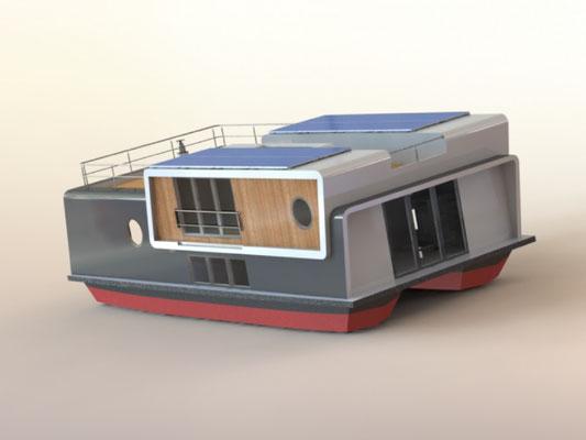 hausboot autarkes wohnen hausboot mieten und kaufen. Black Bedroom Furniture Sets. Home Design Ideas