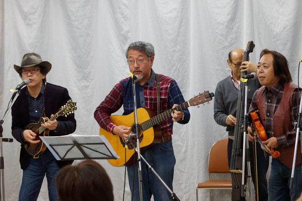 アコースティックライヴ@Kitamoto ゲスト ブルーグラスバンド 鉄カブト