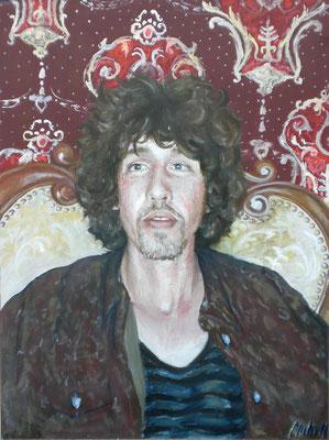B. in Rot, 2011, Öl auf Leinwand, 90 x 60 cm