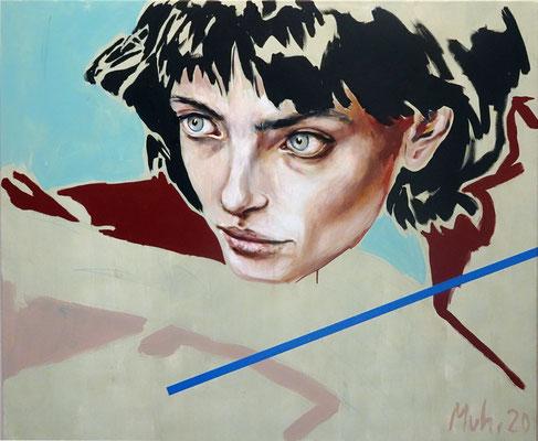The Observer, 2020, Mischtechnik auf Leinwand, 100 x 120 cm