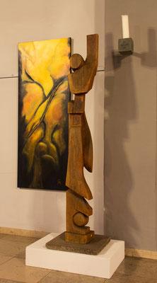 Ewald Keller   Aufstieg aus der Dunkelheit, Holz