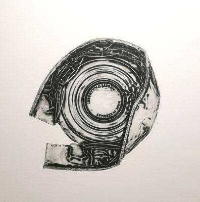 Reinhold Koehler, Decollages inprimes_SW_2_Büchsendrucke_Kunstkreis Siegerland