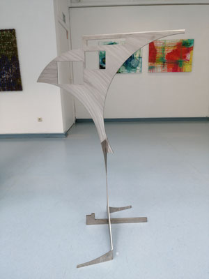 "Wolfram Gaffron,  ""Pegasus"", Gartenplastik Edelstahl"
