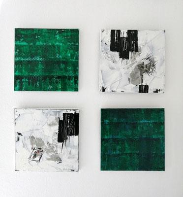 Bilder 50 x 50 cm, Reiner Olesch, Collage/Acryl/Druck