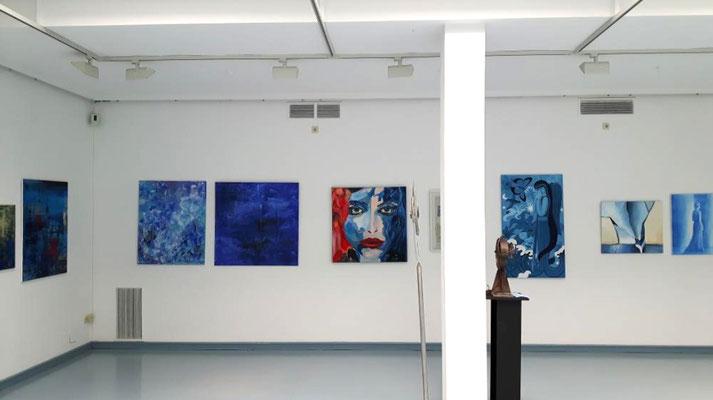 """Ausstellung """"BLAU"""" Kunstkreis Siegerland 2017, Haus Seel, Bilder von versch. Mitgliedern"""