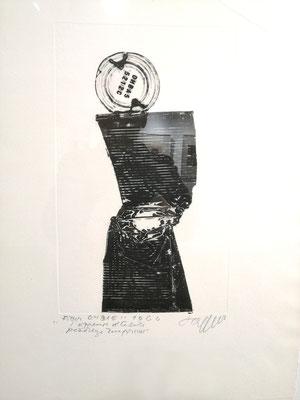 Reinhold Koehler, Decollages inprimes_SW_7_Büchsendrucke_Kunstkreis Siegerland