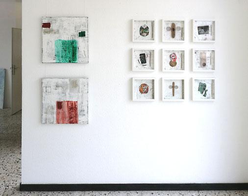Bilder und Assemblagen, Reiner Olesch Galerie Camino, 31.3.2019