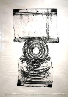 Reinhold Koehler, Decollages inprimes_SW_5_Büchsendrucke_Kunstkreis Siegerland