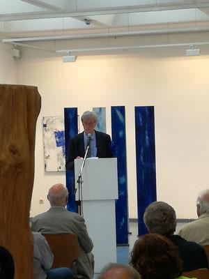 "Ausstellung ""BLAU"" Kunstkreis Siegerland 2017, Haus Seel, Eröffnung, Dr. Jochen Fend"