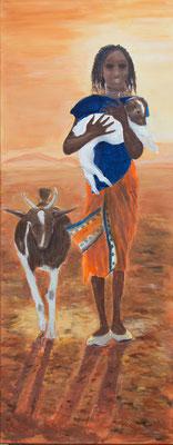 Christa Buck, Afrika, Acryl