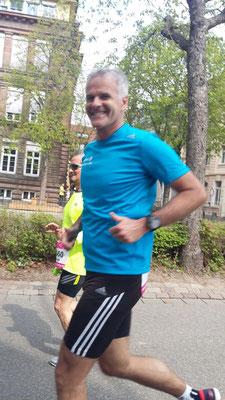 Jochen bei seinem langen Lauf