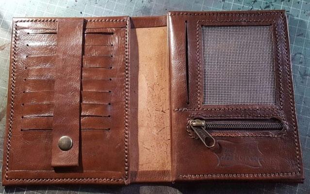 die fertige Brieftasche