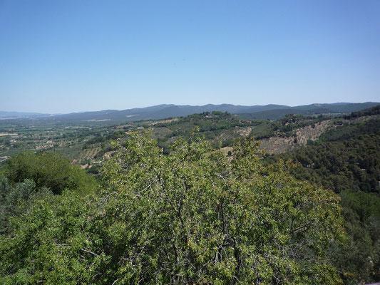 Blick von Castagneto Carducci ins Umland