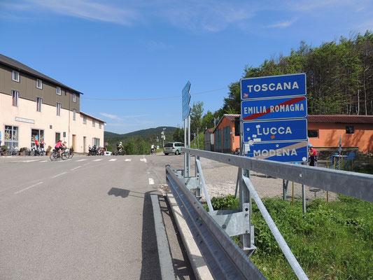 Ankunft in der Toskana
