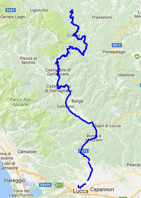 Route nach Lucca