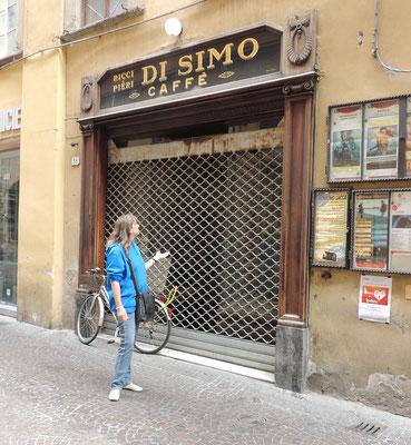 Stammlocal von Puccini Caffè Di Simo in Lucca leider geschlossen.