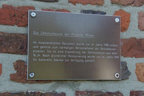 Die Zehntscheune (Tafel)
