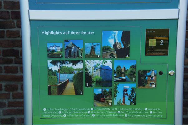 ... Sehenswürdigkeiten, die besichtigt werden können auf der West-Bike Route