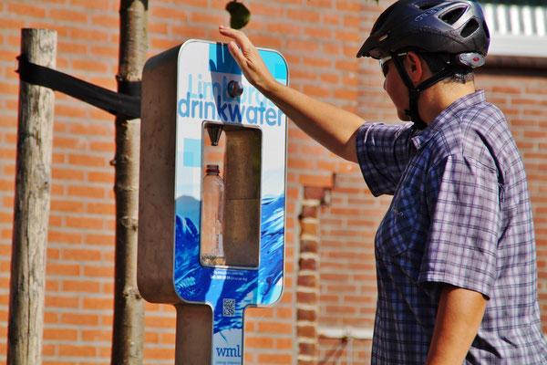 Hier kann man/frau den Wasservorrat auffüllen