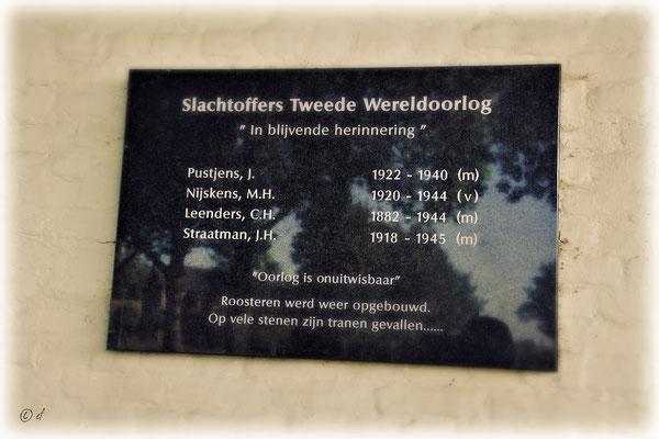 Gedenken an die Gefallenen des Zweiten Weltkriegs