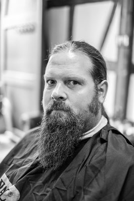 Kunde beim Barber