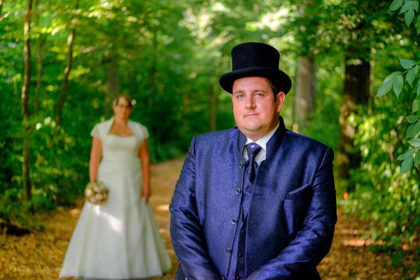 Hochzeitsfotograf Oppenweiler am Wasserschloss Brautpaar