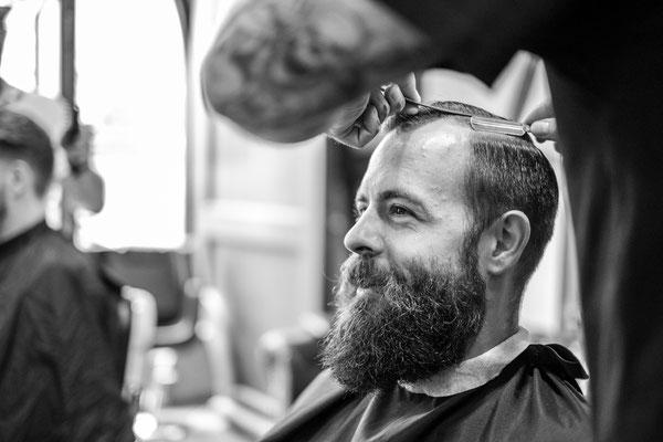 Haarstyling beim Barber