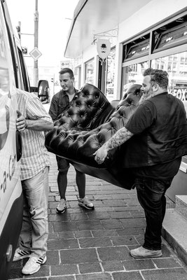 Barber mit Sofa