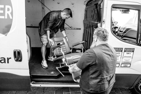 Barber beläd Fahrzeug