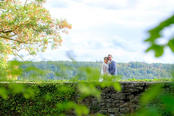 Hochzeitsbild Brautpaar Burghochzeit Oberstenfeld