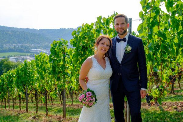 Brautpaarshooting Weinberge Rohrbronn