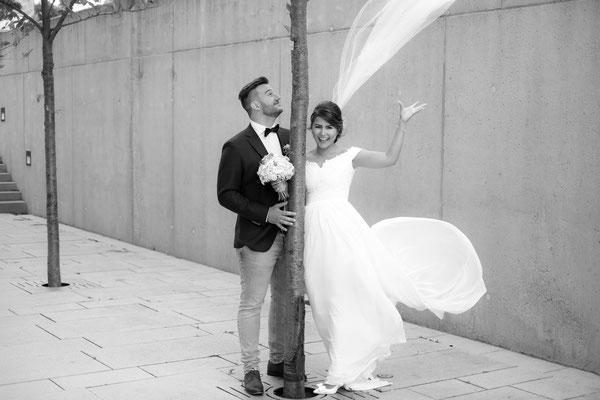 Hochzeitsbild in Heilbronn lustig