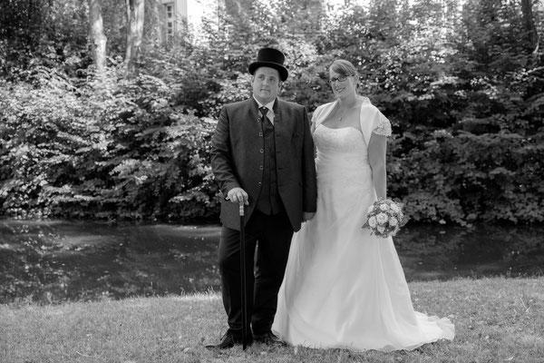 Hochzeitsfoto Wasserschloss Oppenweiler