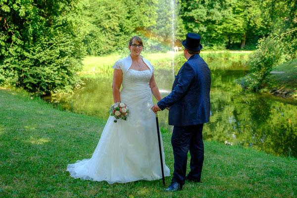 Wasserschloss Oppenweiler Braut und Bräutigam