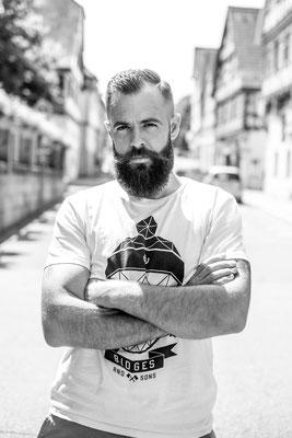 Portrait Mann mit Bart