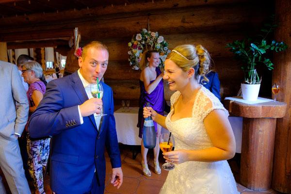 Brautpaar Hochzeit Fautenhau Alm Aspach