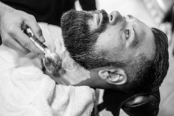 Rasur beim Barber
