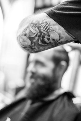 Barber tätovierter Arm